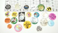 Vintage pinback buttons lot Sassy Funny Rude Joke Novelty Gifts