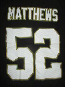 Reebok CLAY MATTHEWS No. 52 GREEN BAY PACKERS (XL) T-Shirt Jersey
