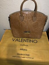 *NEW* Valentino Brown Leather Flower/ Leaf Tote Bag
