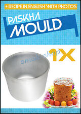 METAL MOLD FOR EASTER CURD PUDDING PASKHA + RECIPE IN ENGLISH
