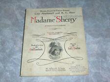Empire Theatre Broadway NY Sanger & Jordan  Madame Sherry Musical Score 1910
