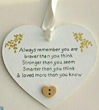 Personalised Friendship Friend Heart Keepsake Plaque Wooden Sign Handmade ⭐