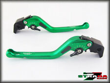 Suzuki GSF650 BANDIT 2007 Strada 7 Long Carbon Fiber Inlay Levers Green
