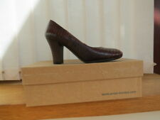 Ladies Unisa Olin Leather Brown Reptile Court Shoes Size 38 (UK 5)