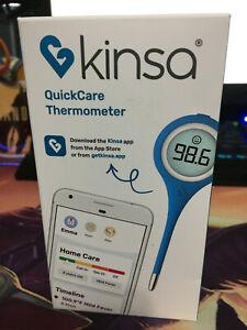 Kinsa Quickcare Smart Digital Bluetooth Thermometer KSA120. Free Shipping.