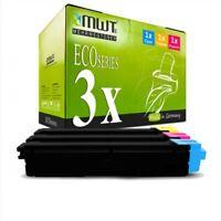 3x MWT Eco Cartuccia Per Kyocera FS-C-5150-DN Eco Sistema P-6021-cdn