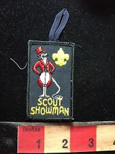 Boy Scout SHOWMAN Patch - Looks Like Circus Lion Trainer With Whip S76G