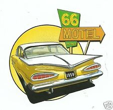 ROUTE 66 AND 1959 CHEVROLET   Sticker Decal