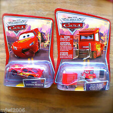 Disney PIXAR Cars MY NAME IS NOT CHUCK & TONGUE MCQUEEN diecast lot 2 bundle set