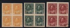 Canada #136 - #138 XF Mint Imperforate Blocks