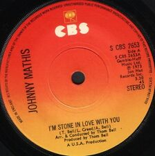 """JOHNNY MATHIS i'm stone in love with you  sweet child 7"""" WS EX/ uk S CBS 2653"""