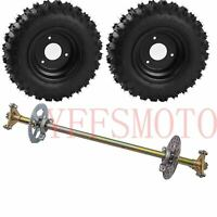 "29"" Gokart Rear Axle Hub Kit+Chain Sprocket+Brake Disc+4.10-6"" wheel rim tires*2"