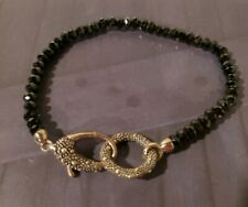 MICHAEL DAWKINS BLACK SPINAL BRACELET WITH STERLING CLASP RARE!