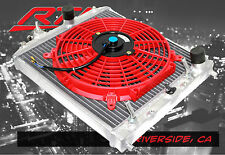 Honda Civic 92-00 Automatic Transmission Aluminum 2 Row Radiator + RED Fan