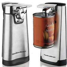 Electric Can Opener Automatic Stainless Steel Home Kitchen W/ Knife Sharpener