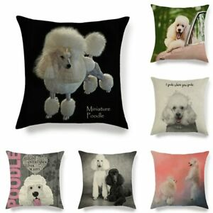 45cm*45cm Poodle dog linen/cotton throw pillow covers couch cushion cover