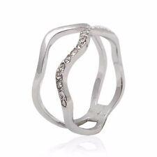 Modeschmuck-Ringe aus Metall-Legierung mit Kristall