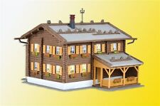 NEW HO Kibri 38004 Alpine Timbered Inn / Hotel with Lights : Model Building KIT