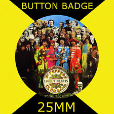 THE BEATLES - BEATELS SARGENT PEPPERS CLUB BAND 25mm BUTTON BADGE