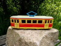 altes DDR Blechspielzeug MSB Straßenbahn Brandenburg Friktion Sammlerstück