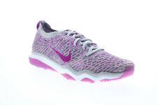Nike Air Zoom Fearless Flyknit Womens Gray Low Top Athletic Running Shoes 7