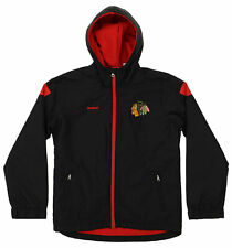 Reebok NHL Hockey Boys Youth Chicago Blackhawks Shockwave Jacket, Black