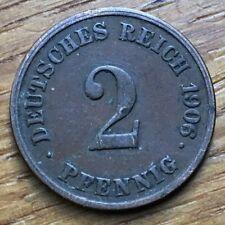 PIECE DE 2 REICHSPFENNIG 1906 J (240)