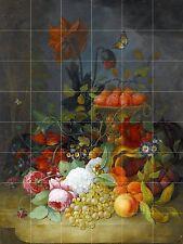 STILL LIFE OF ROSES Tile Mural Kitchen Bathroom Wall Backsplash 25.5x34 Ceramic