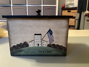 Crazy Mountain Wooden Recipe Holder Americana Design East West...Home's Best Box
