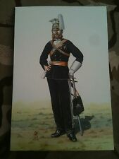 Military Postcard Officer 17th Light Dragoons Lancers 1865 by Alix Baker