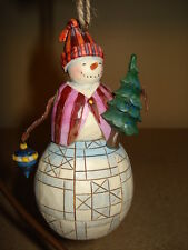Jim Shore Snowman With Tree Ornament 4014339
