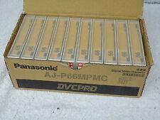 10 x Brand New Panasonic DVCPRO AJ-P66MPMC Digital Video Cassette Tapes
