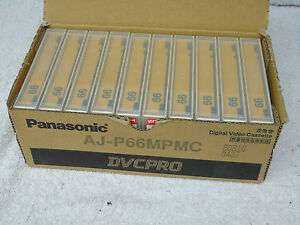 10 x Brand New & Selaed Panasonic DVCPRO AJ-P66MPMC Digital Video Cassette Tapes