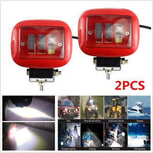 2pcs Car Square Working Light LED 6000K Marine Spotlight Dock Lamp Fit for Jeep