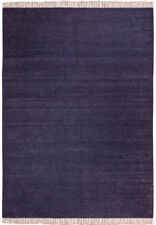 Alfombras rectangulares color principal azul 100% lana