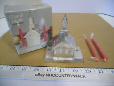 Vintage William A. Rogers Silverplated Miniature Church Lights Candle Holder Nos