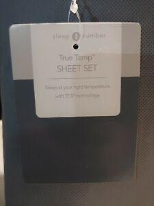 Sleep Number True Temp Sheet Set, Queen, Pacific Blue, 423960