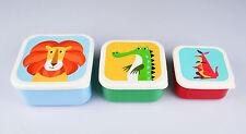 Lunchboxen Brotdosen für Kinder, 3er-Set, Kunststoff, reizende Tiermotive