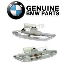 For BMW E82 E90 E92 Pair Set of 2 Additional Side Light with White Lens Genuine