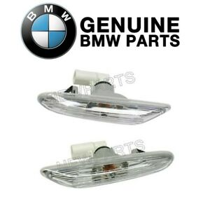 For BMW E82 E90 E92 Pair Set of 2 Additional Side Light with White Lens Genuine