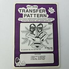 Pretty Punch Hot Iron Color Coded Transfer Pattern #865 Christmas Bells 8-1/2x6-