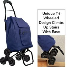 Stair Climb Rolling Cart Collapsible waterproof Holds up to 120 lbs 4 pocket New