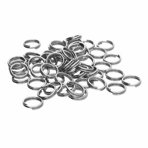 5 x 0.4cm/4mm Silber Schlüssel Ring Doppel Split Spange Verbinden Schlüsselring