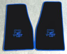 Autoteppich Fußmatten Chrysler Dodge Viper RT10 schwarz blau 2teilig Velours Neu