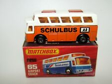 Matchbox Superfast No 65 Airport Coach Orange  SHULBUS German Issue VNMIB - HTF