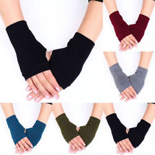 1Pair Soft Cashmere Warm Fingerless Gloves Women Winter Hand Wrist Warmer Mitten