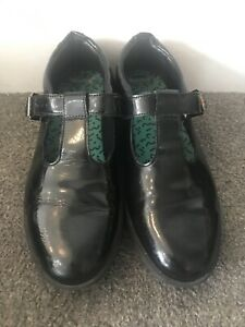 Clarks Bootleg Black School Shoes UK 5.5 F / EUR 39