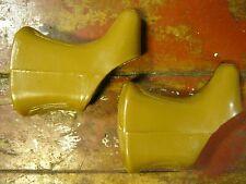 NOS EURO ASIA EAI GUM Tan Brake Lever Hoods Vintage Non-Aero Record Shape SEALED