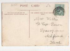 Miss Wallis c/o Capt Down Spearpoint Ashford Kent 1904  318a