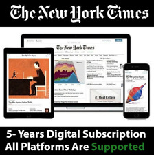New York Times 5 Years Digital Subscription All Platform Supported + NYT Cooking